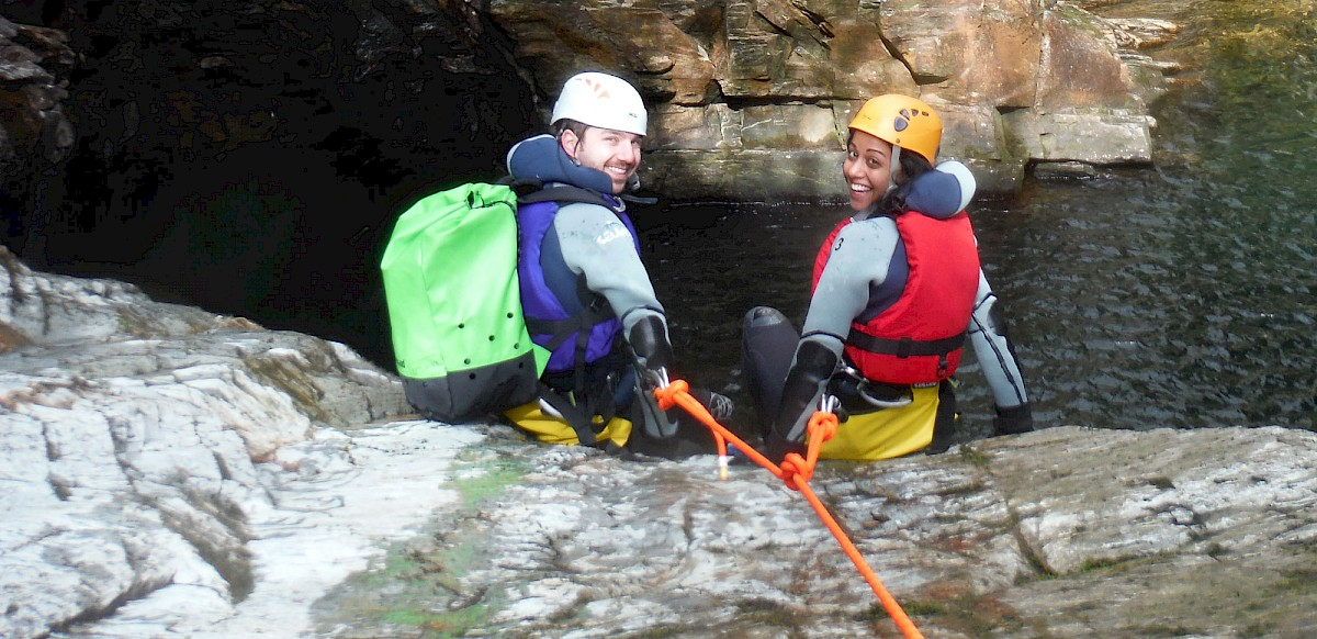 Gorge Walking Snowdonia North Wales